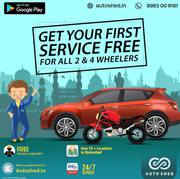 CAR & BIKE REPAIR SERVICE CENTER IN MADHAPUR,  HYDERABAD – AUTOSHED