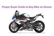 Proper Buyer Guide to Buy Bike on Droom